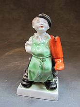 Herend, Hungary porcelain boy statue