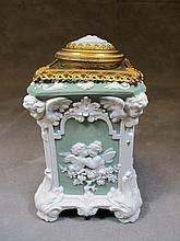 Antique Wedgwood bronze & porcelain box