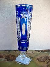 European glass flower vase