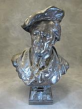 Antique bronze bust, LEROUX