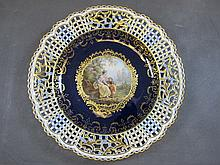 German Meissen porcelain plate