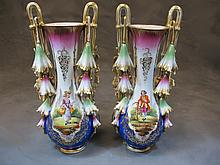 Pair of Antiques French porcelain vases