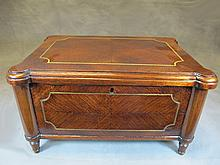 Old English wood with a bronze inlaid box