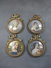 Set of 4 miniatures, Conte di Savoia