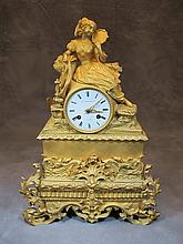French Pons Ormolu bronze Clock