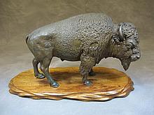 Franz BERGMAN (1898-1963) buffalo bronze statue