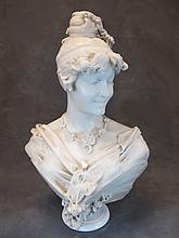 Antique Italian marble bust, F. VICHI, Firenze