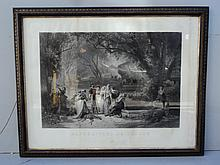 Old French framed engraving