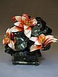 Chinese hard stones flower vase