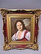 Old Rosenthal framed porcelain plaque