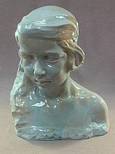 Old European ceramic woman head, Navarro
