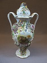 Coalbrookdale by coalport English porcelain urn