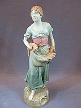 Antique Czechoslovakian porcelain figure