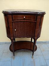 French Louis XVI kidney shape side table