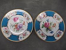 Czechoslovakian pair of porcelain plates
