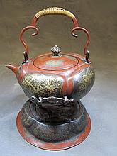Antique Japanese engraving kettle