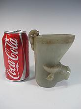 Vintage Chinese carved jade vessel