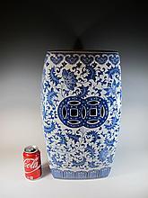 Chinese blue & white porcelain stool