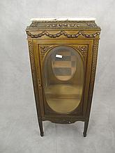 Antique French Louis XVI gilt cabinet with light