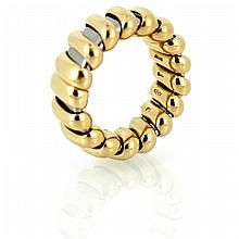 18k yellow gold and Stainless steel Bulgari ring band