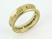 18k yellow gold Tiffany & Co 1837 wedding band