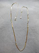 Necklace, 14 k yellow gold, 1.5 grams