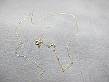 Necklace, broken, 14 k yellow gold, 0.3 grams