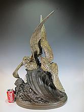 Henri LECHESNE (1869-1878) Syralyok sculpture