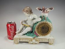 Meissen, Marcolini period (1744-1815) porcelain clock