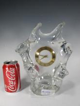 Schneider crystal mantle clock, signed