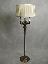 Old bronze floor lamp