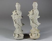 Vintage Asian pair of porcelain figurines