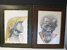 Signed FUCHS pair of drawings