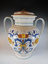 Deruta, Italy ceramic jar, signed