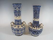 2 Orientalist ceramic vases