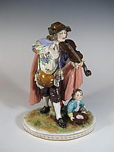 Antique French Sevres porcelain figure