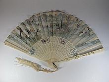 Vintage Asian ivory fan