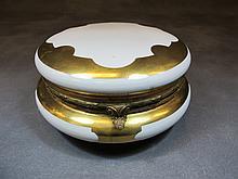 French Sevres porcelain box, signed