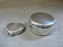 2 Tiffany & Co sterling boxes