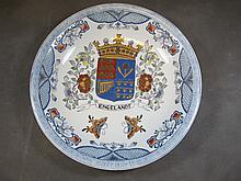 Old European porcelain plate