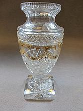 French glass & bronze urn