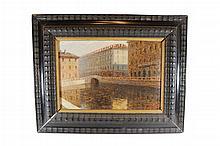 Antique Italian oil on canvas, F. BERTOLI