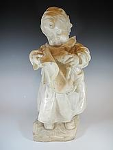 Antique European Alabaster child sculpture