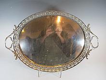 18th C Portuguese silver tray