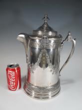 19th C Reed & Barton silverplate ice water pitcher