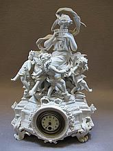 18th/19th C. German Volkstedt bisque clock