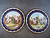 large pair of Old Vienna porcelain chargers