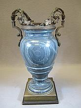 Antique French marble & bronze urn