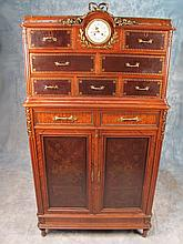 Antique French Forest cabinet with a clock