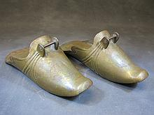 Antique pair of Spanish Colonial brass stirrups
